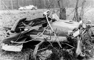 The remains of Jim Clark's Lotus