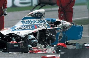 Ayrton Senna's death in this William after the crash