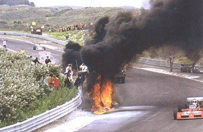 Roger Williamson crash, fire and death. Dutch Grand Prix, 1973.